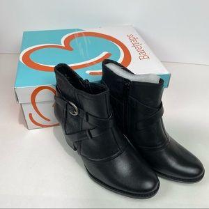 BareTraps Sz 5.5 black zip heeled ankle boots New